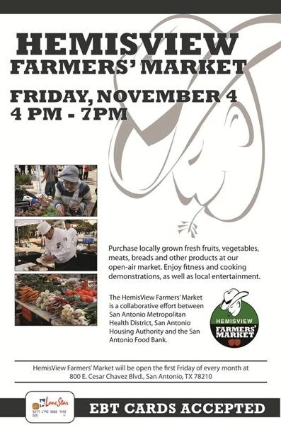 HemisView Farmers Market Nov 4th