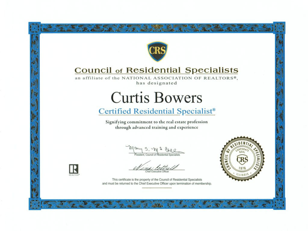 CRS Designation - Curtis Bowers
