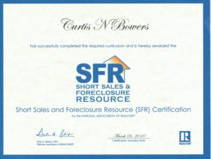 SFR Designation - Curtis Bowers